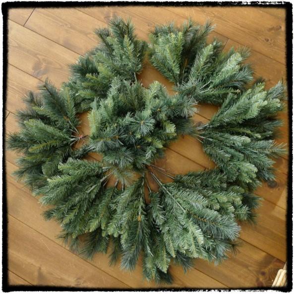 Ontmantelde kerstboom