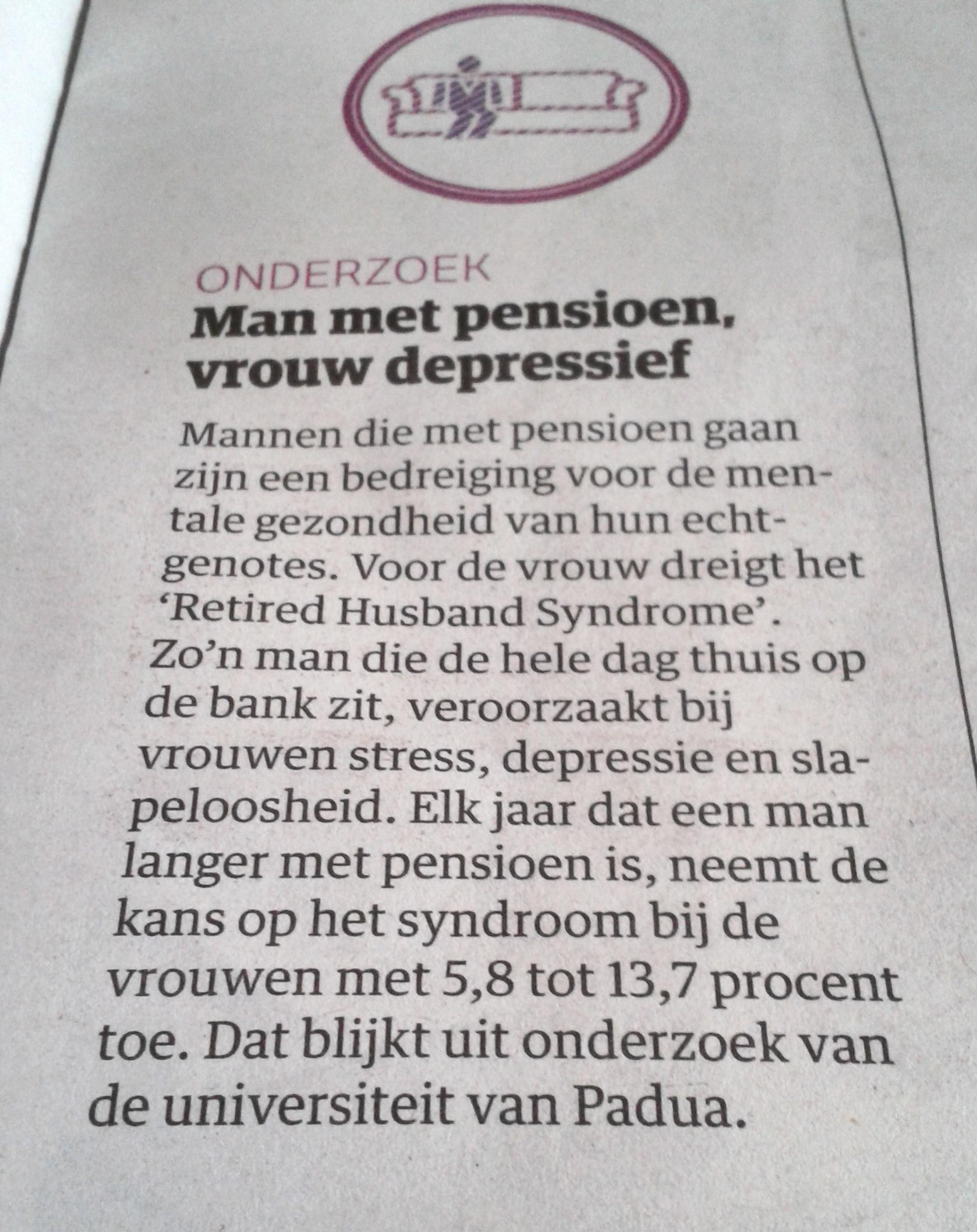 met pensioen na 40 jaar werken Alsof ik na 40 jaar werken niet even op de bank mag zitten?   Cornutus met pensioen na 40 jaar werken