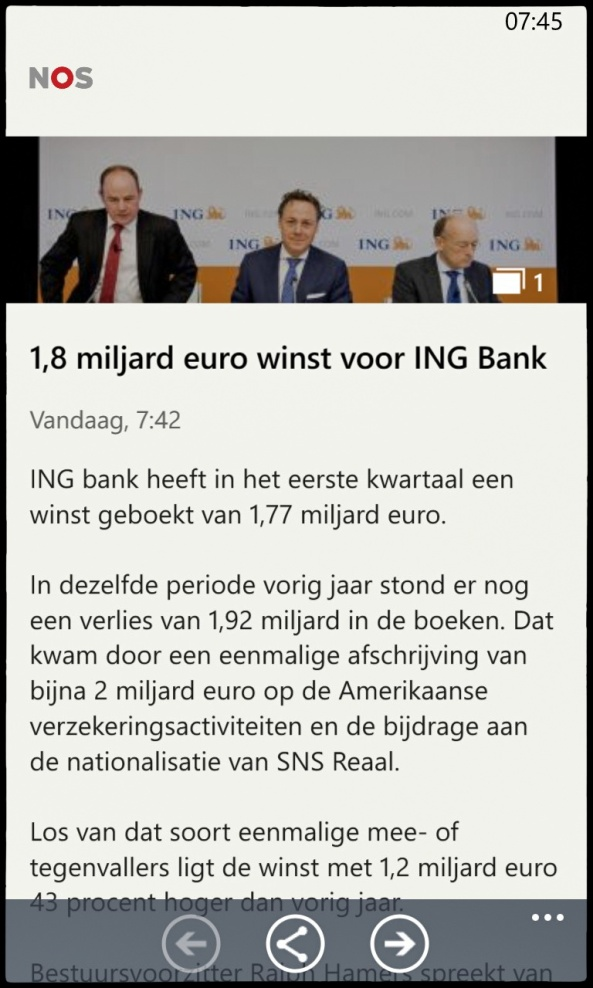 ING winst